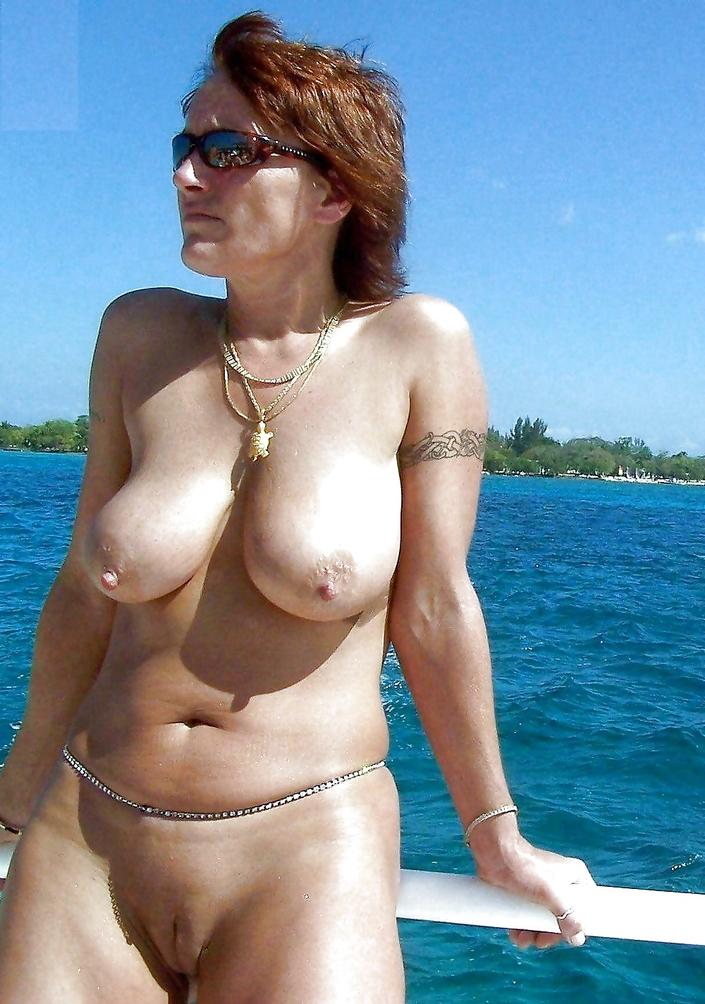 nude mature woman on the beach