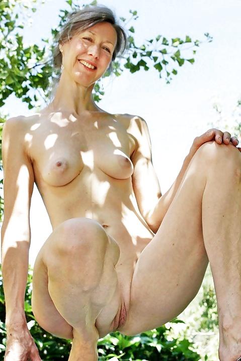 In her backdoor