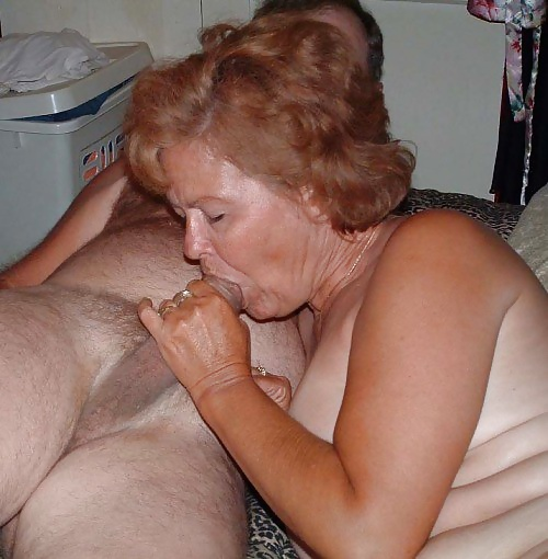 Granny give blowjob with you
