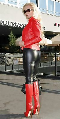 Pvc boots leather latex 54